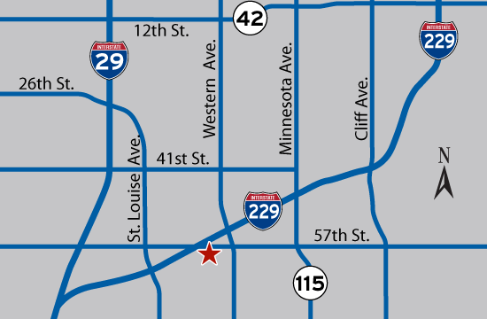 Sioux Falls Office map